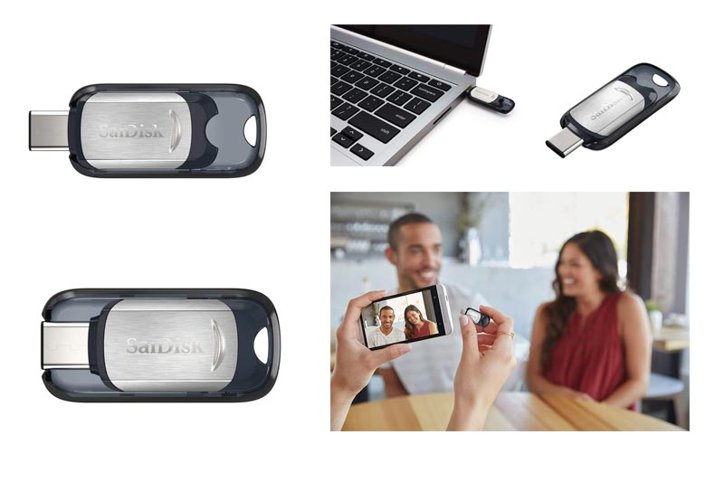 SanDisk Ultra USB Type-C 128GB Flash Drive (SDCZ450-128G-G46)
