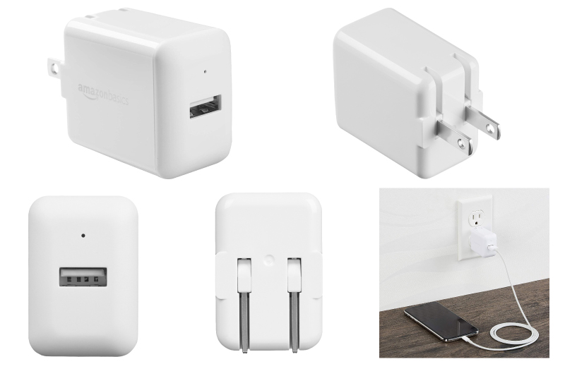 AmazonBasics One-Port USB Wall Charger (2.4 Amp) - White